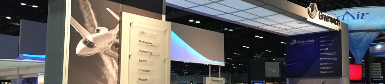 Exhibition Booth Header : Professional aviation events aircraft parts avionics